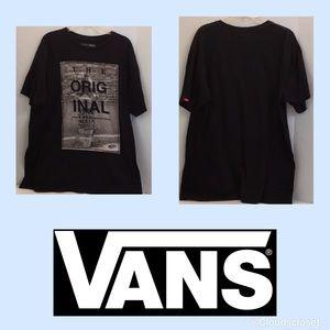 VANS classic Original T Shirt BLACK THE WALL LG